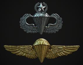 3D model Parachutists Badges