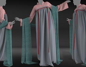 3D asset Asian outfit