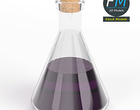 3D model Conical potion flask