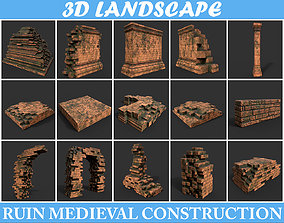 Low poly Terracotta Construction Pack - 190923 3D