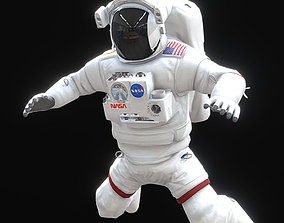 3D asset Low Poly Game Ready PBR Nasa Astronaut