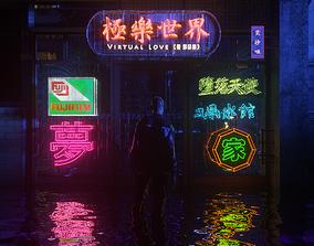 sci Jonnis Neon Sign 3D Model Pack Volume-2