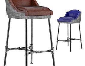 IRON SCAFFOLD BAR STOOL 6 colors 3D model