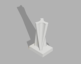 twisting tower 3D printable model
