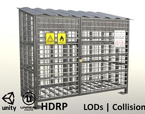Gas Cylinder Cage Clean 3D asset