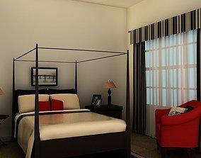 3D Bed Black