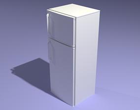 3D asset White Fridge - Low poly