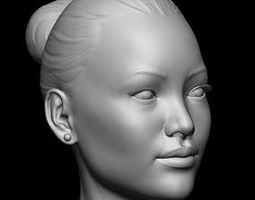 Head Base Mesh Asian Female 3D