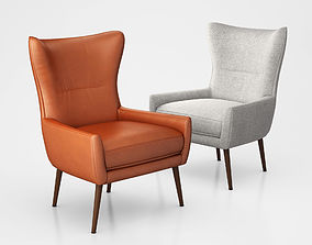 Erik Upholstered Wing Chair by West Elm 3D model