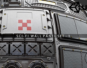 Scifi Wall Panel Texture Set 1 3D model game-ready