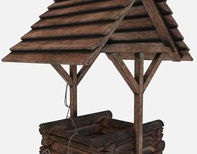 Wooden Well 3D Model PBR