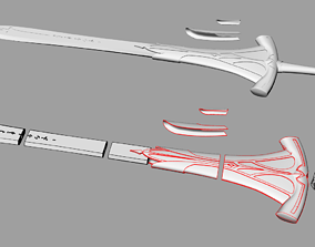 3D print model Clarent Sword of Mordred from Fate