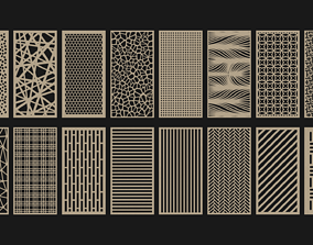 3D model Decorative Wood Panel Set
