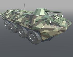 BTR Armored Low Poly 3D asset