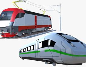 3D Siemens Taurus and ICE locomotives