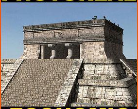Photoreal Mayan temple - 3d model pyramid