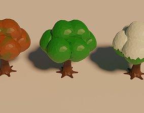 3D asset tree winter summer Spring Autumn