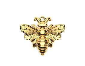 gold Bee Pendant 3D printable model