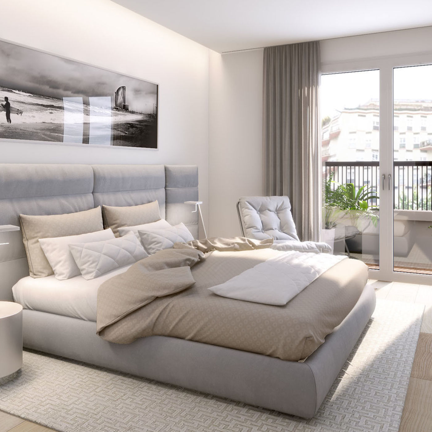 3D BEDROOM FOR A REAL ESTATE AGENCY PROMOTER