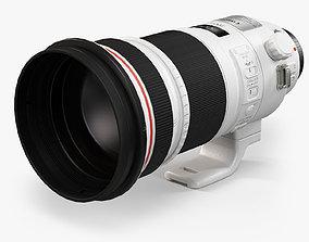 3D model game-ready Canon EF 300mm f 2-8L IS II USM Lens