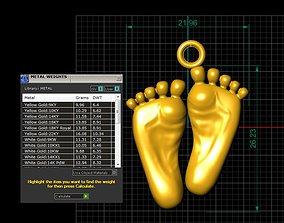babyfeet pandent 3D printable model