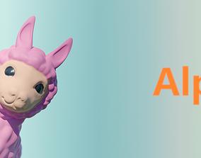 pink Alpaca 3D print model