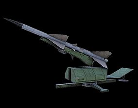 S75 SAM-2 Anti Aircraft Missile Launcher 3D model