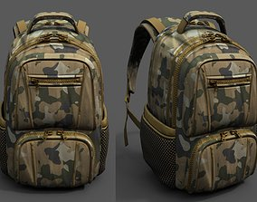 Backpack military combat soldier fabric human 3D model
