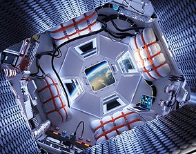3D model Space shuttle interior