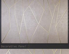 modern decorative geometric soft panels PN2 3D asset