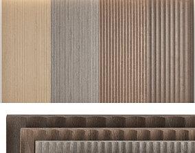 Wood panels set7 3D