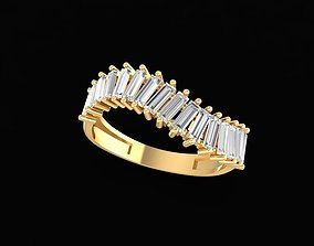 3D printable model 1665 Diamond Women Ring