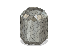 disco style vase cup vessel v51 for 3d-print or cnc