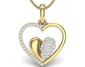 wedding 3D printable model Diamond Pendant For Ladies