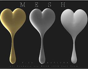 3D model Drop Heart