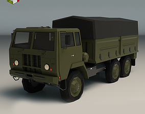 3D model game-ready Low Poly Military Truck 04