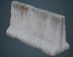 3D asset Concrete Barrier 3C
