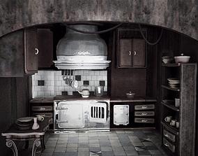 3D asset Game Ready Kitchen