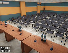 3D model Conference hall - interior and props