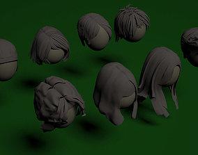 3D Female Hair