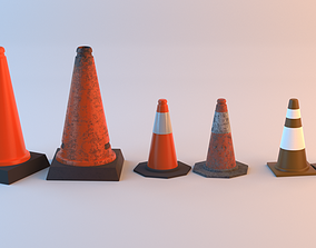 Cone pack 3D asset