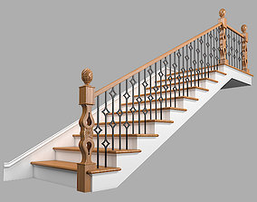 3D model Classic stairs