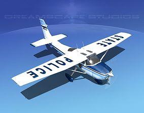 3D model Cessna 182 Skylane State Police