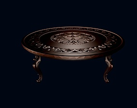 restaurant 3D model Round coffee table 1