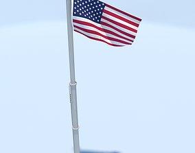 USA Flag 3D asset realtime