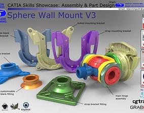 3D model Sphere Wall Mount V3