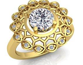 Fancy Diomand Ring 3D print model