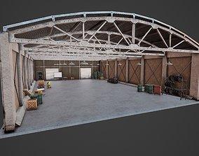 Hangar Multiprop PBR 3D model