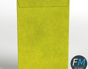 Large yellow envelope 3D asset