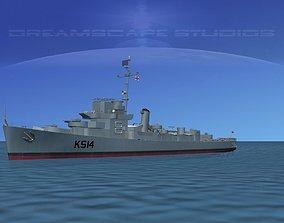 3D model UK Captains Class Frigate HMAV Lawford